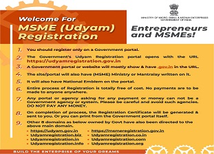 Welcome for MSME (Udyam) Registration